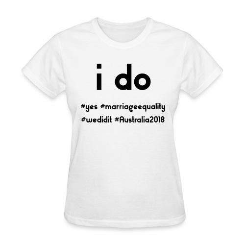 ido marriageequality tshirt design 15012018 - Women's T-Shirt