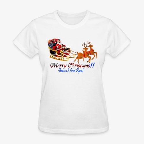 Merry Christmas-America - Women's T-Shirt