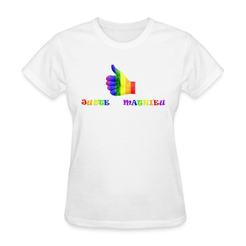Logo LGBT + Name of the company - Women's T-Shirt