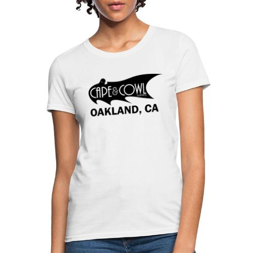 Cape and Cowl Comics Logo - Women's T-Shirt