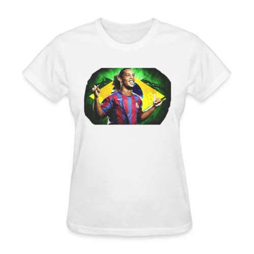 Ronaldinho Brazil/Barca print - Women's T-Shirt