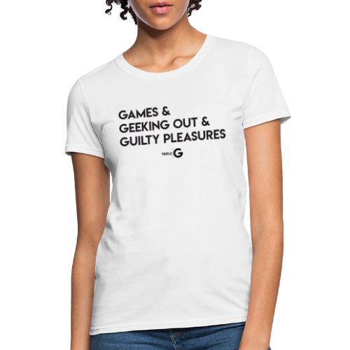 Triple G & - Black Text - Women's T-Shirt