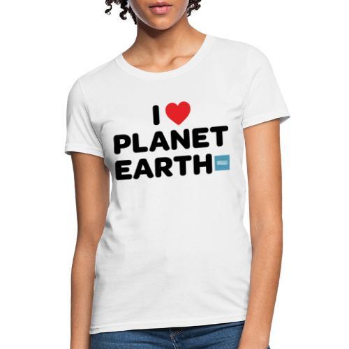 I Heart Planet Earth - Women's T-Shirt