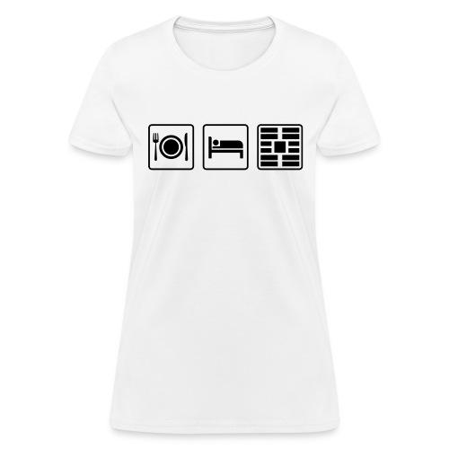 Eat Sleep Urb big fork - Women's T-Shirt