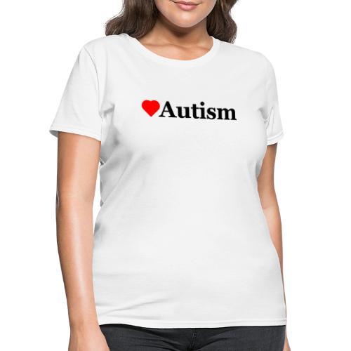 Heart Autism b - Women's T-Shirt