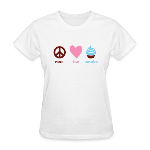 peacelovecupcakes pixel - Women's T-Shirt