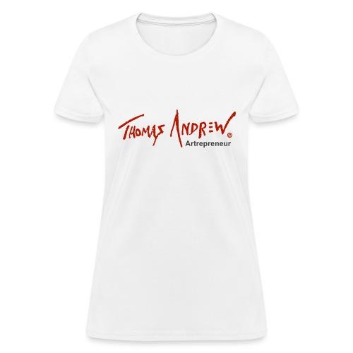 Thomas Andrew Artrepreneur - Women's T-Shirt