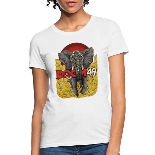 Yellow Smoke Elephant by DooM49 - Women's T-Shirt