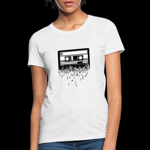 Music Notes Cassette Tape - Women's T-Shirt