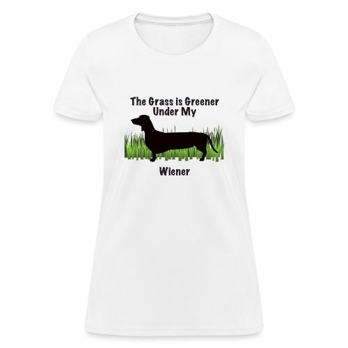 Wiener Greener Dachshund - Women's T-Shirt