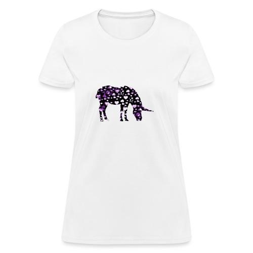 Unicorn Hearts purple - Women's T-Shirt
