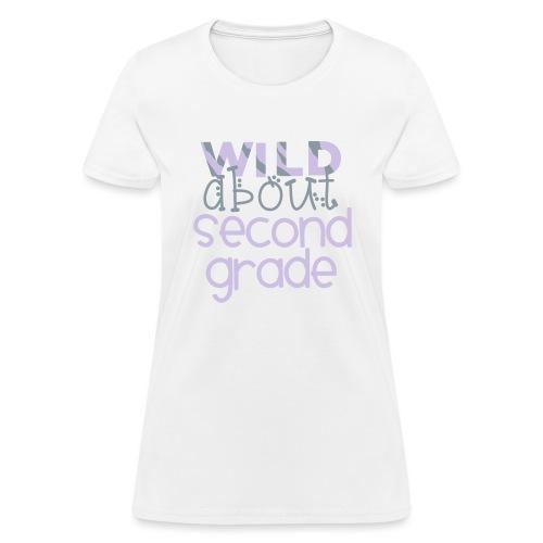 Wild About Second Grade Funky Teacher T-shirt - Women's T-Shirt