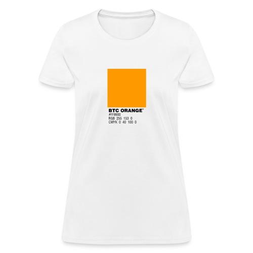 BTC Orange (Bitcoin Tshirt) - Women's T-Shirt