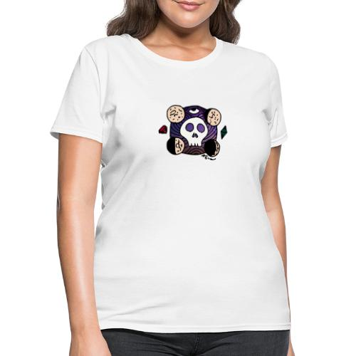 Moon Skull from Outer Space - Women's T-Shirt