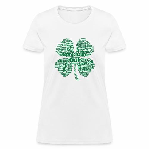 Shamrock Word Cloud - Women's T-Shirt