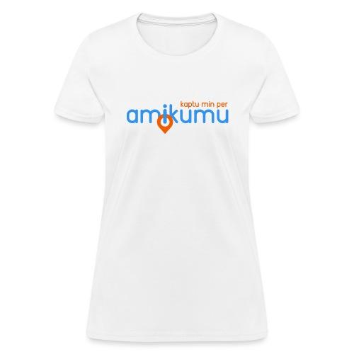 Kaptu min per Amikumu Blua - Women's T-Shirt