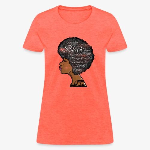 MElanin Queen Afro - Women's T-Shirt