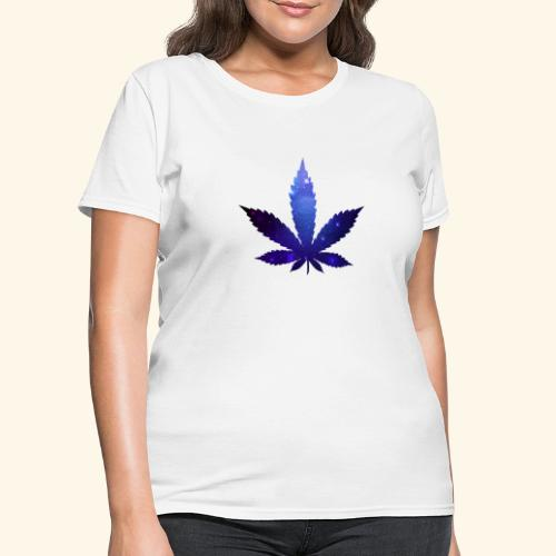 Cannabis Leaf - Galaxy - Weed - Women's T-Shirt