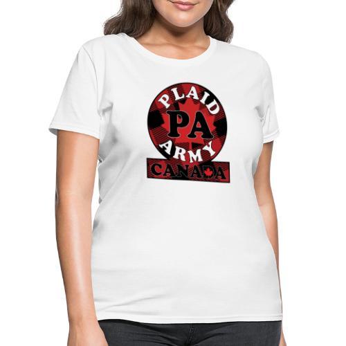 Plaid Army Canada - Women's T-Shirt