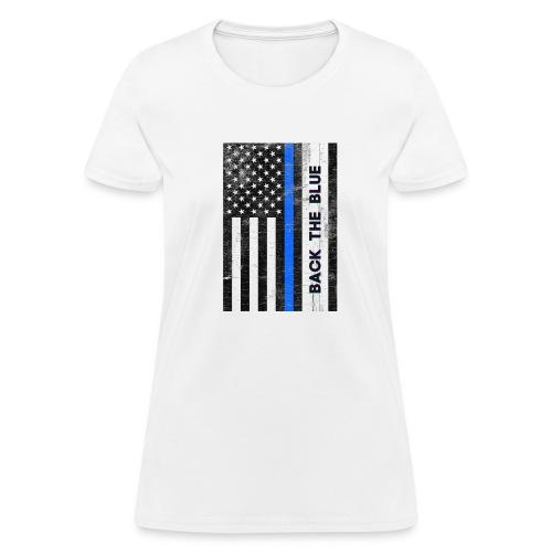 BACK THE Blue Police Officer USA - Women's T-Shirt