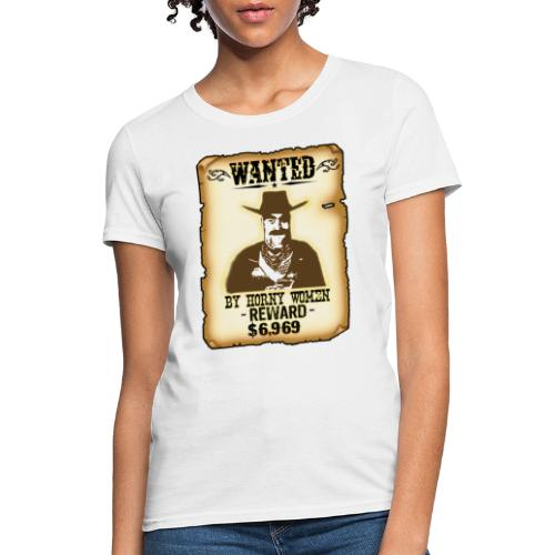 Cowboy Ox-Mad Wanted Poster! - Women's T-Shirt