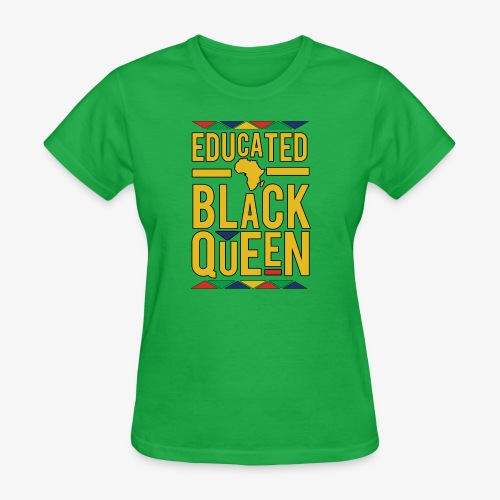 Dashiki Educated BLACK Queen - Women's T-Shirt