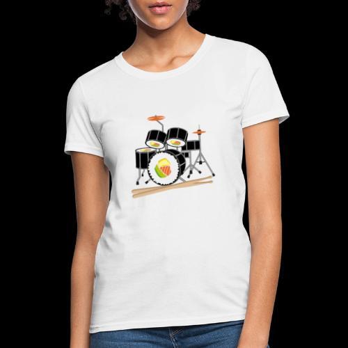 Sushi Roll Drum Set - Women's T-Shirt