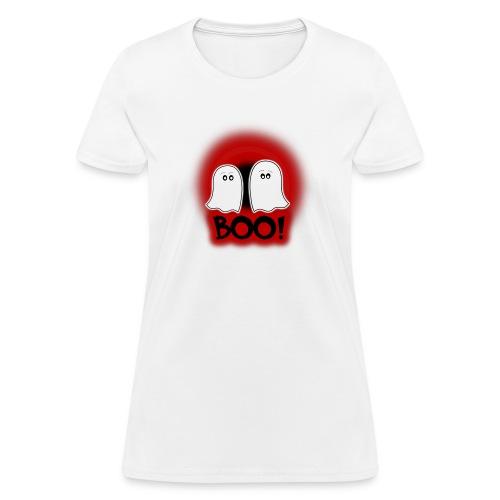 Ghosties Boo Happy Halloween 3 - Women's T-Shirt