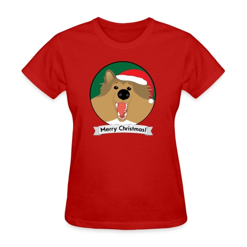 Holly the Collie Xmas - Women's T-Shirt