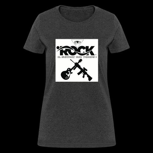 Eye Rock & Support The Troops - Women's T-Shirt