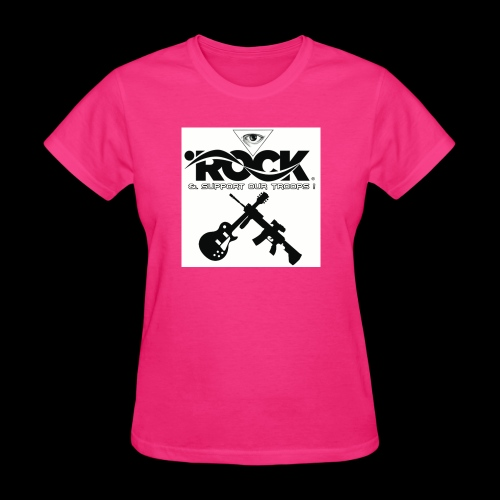 Eye Rock & Support The Troops - Women's T-Shirt