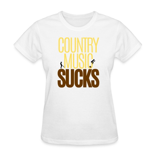 Country Music SUCKS (poop & pee version) - Women's T-Shirt