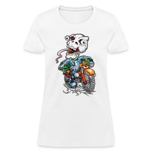 Skull-Tongued Dirtbiker - Women's T-Shirt