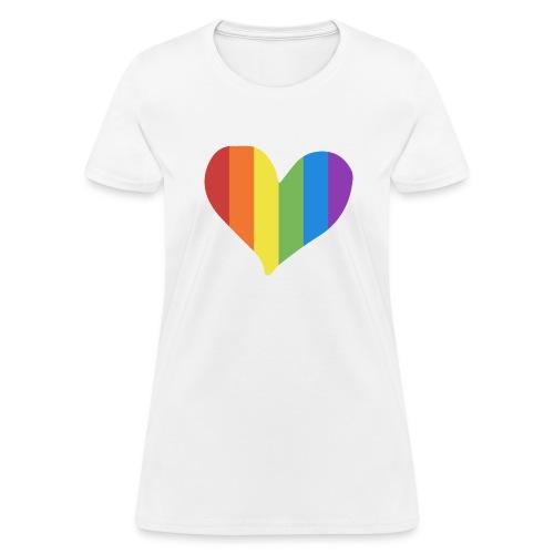 Pride Rainbow Heart - Women's T-Shirt