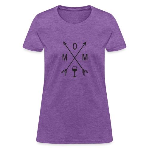 Mom Loves Wine (black ink) - Women's T-Shirt
