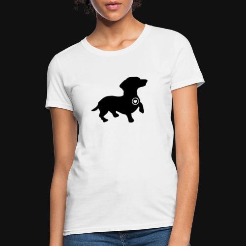 Dachshund love silhouette black - Women's T-Shirt