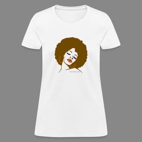 Afro Diva (Brown Hair) - Women's T-Shirt