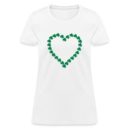 shamrock heart - Women's T-Shirt