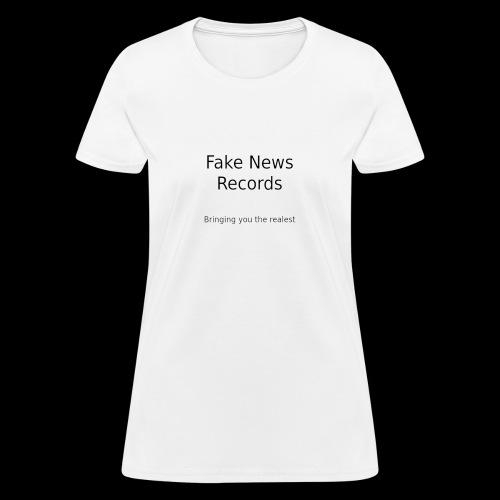fake news records merch - Women's T-Shirt