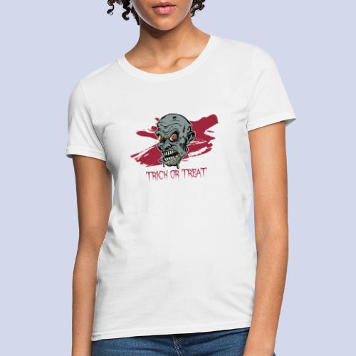 Halloween Zombie Trick or Treat - Women's T-Shirt