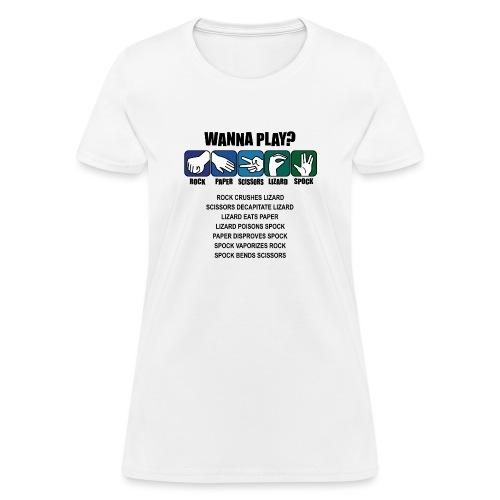 rock paper scissors lizard spock shirt - Women's T-Shirt