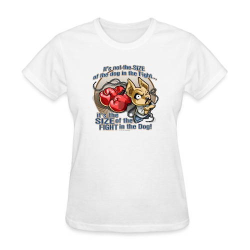 Dog in fight by RollinLow - Women's T-Shirt