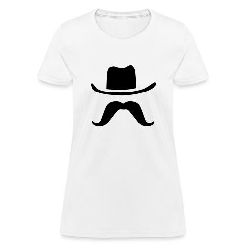 Hat & Mustache - Women's T-Shirt
