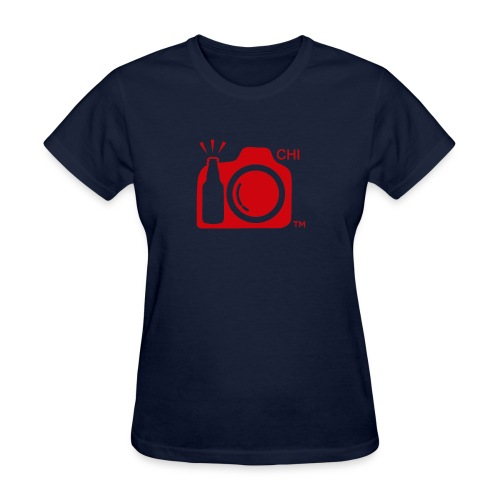 Chicago Transparent With Initials RED png - Women's T-Shirt