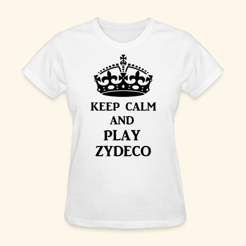 keep calm play zydeco blk - Women's T-Shirt