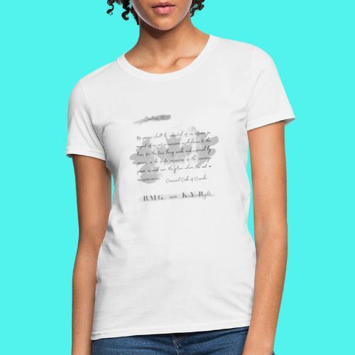 Section15 Criminal Code of Canada - Women's T-Shirt