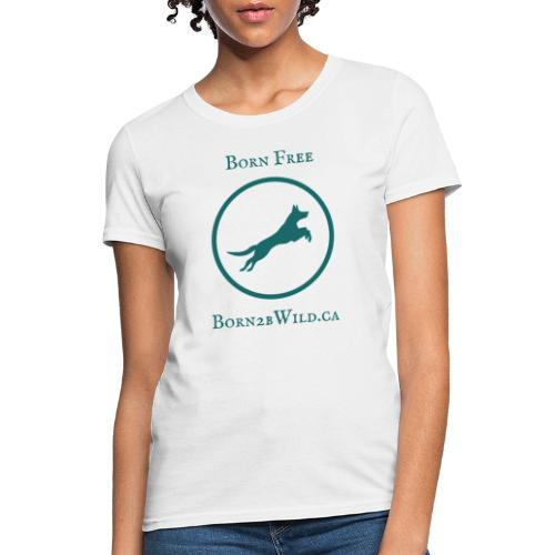 Born 2B Wild Full Logo - Women's T-Shirt