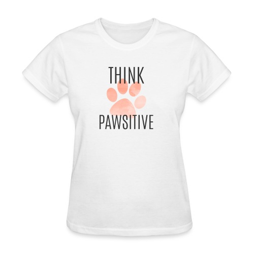 think pawsitive png - Women's T-Shirt
