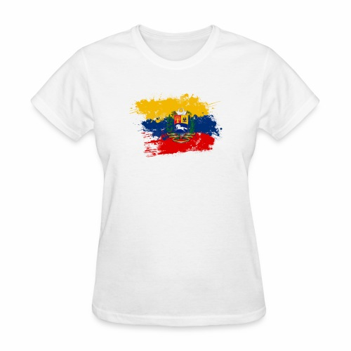 Flag of Venezuela and coat of arms - Women's T-Shirt