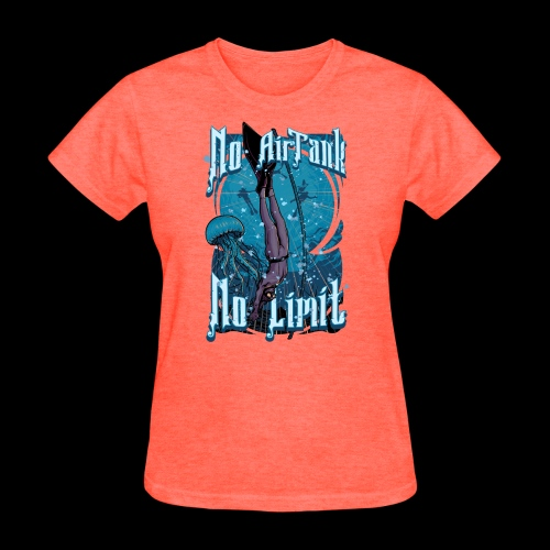 No Air Tank No Limit Freediving merchandise - Women's T-Shirt